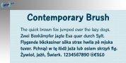 Contemporary Brush font download