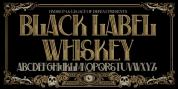 H74 Black Label Whiskey font download
