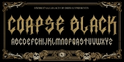 H74 Corpse Black font download