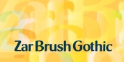 Zar Brush Gothic font download