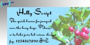 Holly Script font download