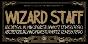 H74 Wizard Staff font download