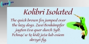 Kolibri Isolated font download