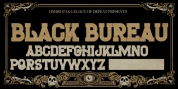 H74 The Black Bureau font download