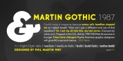 Martin Gothic font download