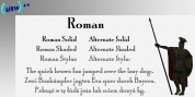 Roman Shaded font download
