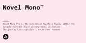 Novel Mono Pro font download