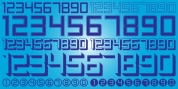 Display Digits One font download