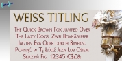 Weiss Titling font download
