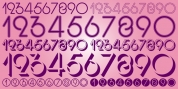 Display Digits Three font download