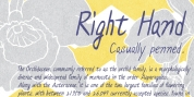 Right Hand font download