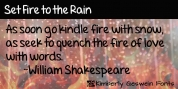 Set Fire To The Rain font download