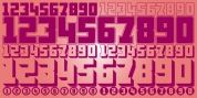 Display Digits Six font download