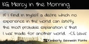 KG Mercy In The Morning font download