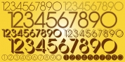Display Digits Eight font download