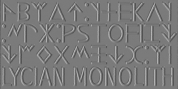 Lycian Monolith font download