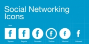 Social Networking Icons font download