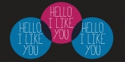 Hello I Like You font download
