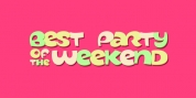best party of the weekend font download