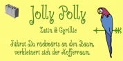 Jolly Polly font download