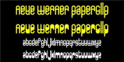 Neue Werner Paperclip font download