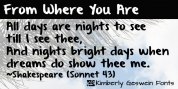From Where You Are font download