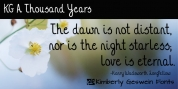 KG A Thousand Years font download
