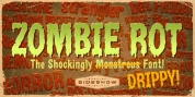 Zombie Rot Drippy font download