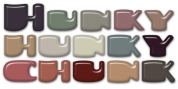 Hunky Chunk font download