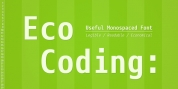 Eco Coding font download