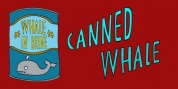 Canned Whale font download