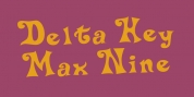 Delta Hey Max Nine font download