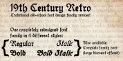 19th Century Retro font download