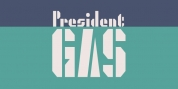 President Gas font download