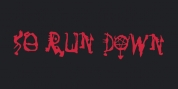 So Run Down font download