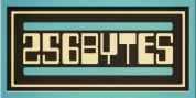 Two Fifty Six Bytes font download
