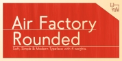 Air Factory Rounded font download