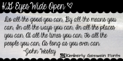 KG Eyes Wide Open font download