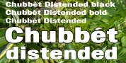 Chubbet Distended font download