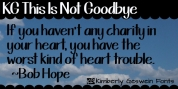 KG This Is Not Goodbye font download
