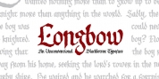 Longbow BB font download