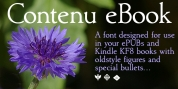Contenu EBook font download
