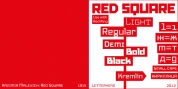 Red Square font download