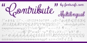 Contribute font download