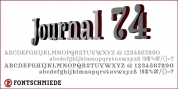 Journal 74 font download