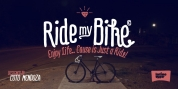 Ride my Bike font download
