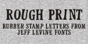 Rough Print JNL font download