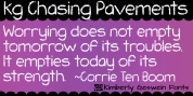 KG Chasing Pavements font download