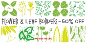 Flower And Leaf Borders font download