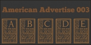 American Advertise 003 font download